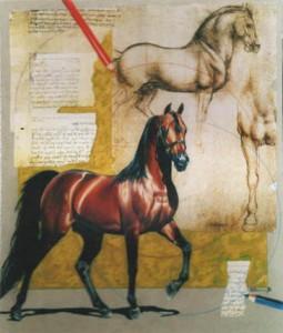 """THE HORSE"", IMPROVISATION ON LEONARDO"
